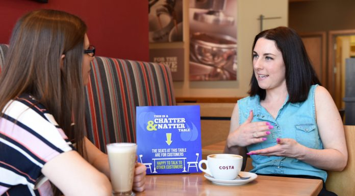The Chatty Café Scheme - Costa Coffe - Telford