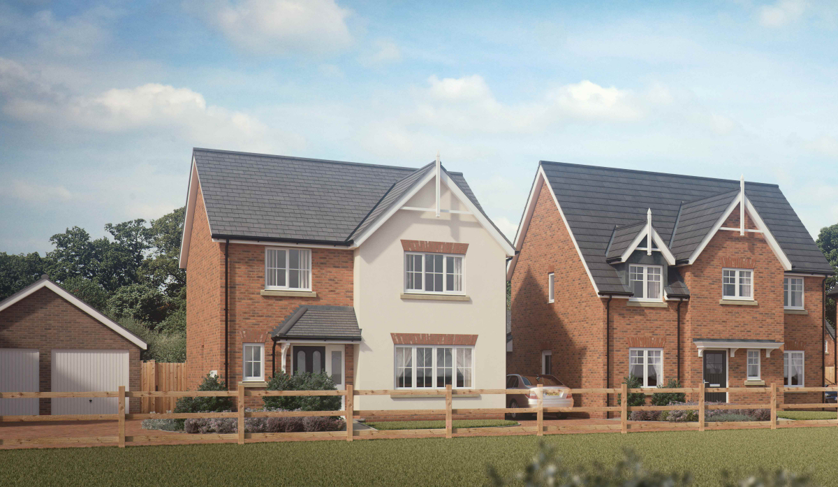 Galliers Woodfields development in Hinstock is due to launch on April 21