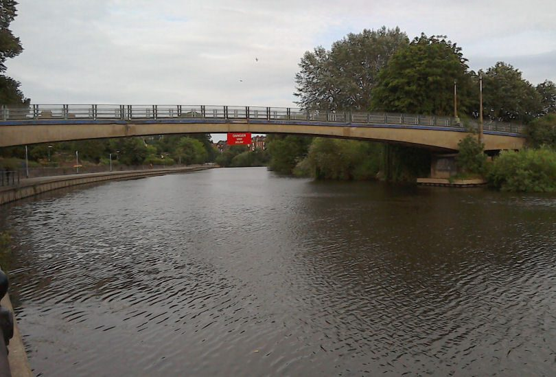 The search was carried out following reports a man had been seen in the water near the Castle Walk footbridge