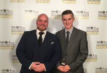 Craig Wildman with his son Caine at the 2017 Everyday Heroes awards
