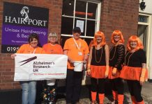 Members of the Alzheimer's Research UK Shropshire Fundraising Group in Newport. Photo: Zoe Baggott