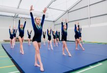 Medal-winning gymnasts at Adcote School