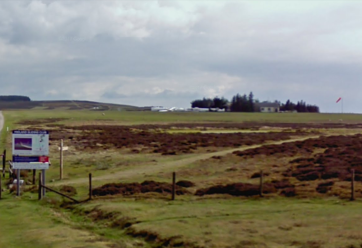 The incident happened at the Midland Gliding Club. Photo: Google Street View