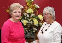 Gaynor Tudor accepting the donation from Val Collins