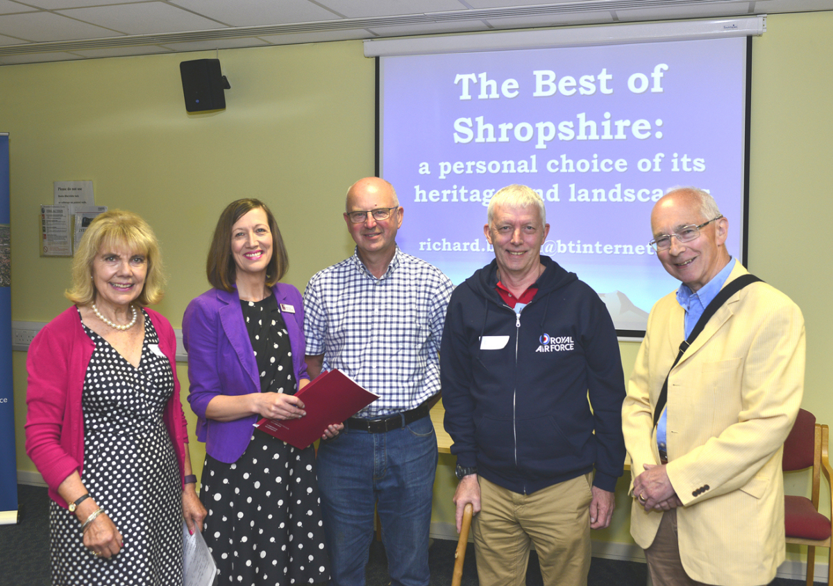 Pictured from left, organiser Liz Holdsworth, Heather Evans of Wace Morgan, attendees Ian Holmes and Clive Rogers and speaker Richard Bifield