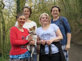 Ann Allsop, Lisa Butler and Morag Cunningham, and Laura Wise from New Cross Hospital, Wolverhampton will climb the Wrekin in their pyjamas