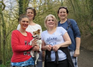 Ann Allsop, Lisa Butler and Morag Cunningham, and Laura Wise from New Cross Hospital, Wolverhampton will climb the Wrekin in their pyjamas