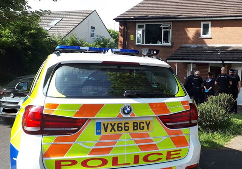 A dedicated team carried out raids in Swan Lane and Castle Street, Oswestry. Photo: West Mercia Police
