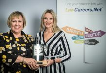 Kay Kelly and Grainne Walters of Lanyon Bowdler with the award