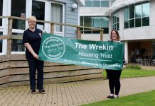 Festival organiser Debbie Glaze with sponsorship co-ordinator at The Wrekin Housing Trust, Laura White