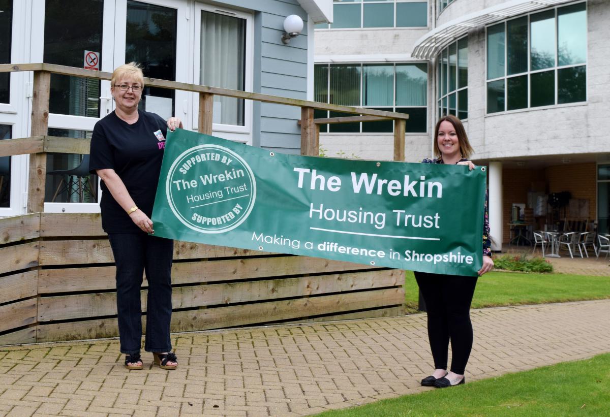 Festival organiser Debbie Glaze with sponsorship co-ordinator at The Wrekin Housing Trust, Laura White