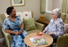Care Centre Home Manager, Lydia Tynase, with Dementia and Social Life Lead, Alison Hearle