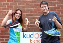 Donna Roper, European sales manager and Calum Follan, from the site services department at Kudos Blends