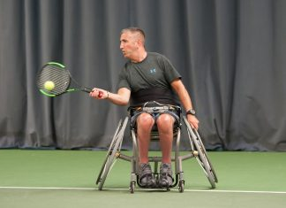 Craig Nicholson, from Craven Arms, in action during the Shrewsbury Summer Open at The Shrewsbury Club. Photo: Richard Dawson Photography