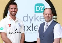 Jack Shantry (left) with Ian Middleton from Dyke Yaxley Chartered Accountants, in Shrewsbury