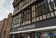 House of Fraser on High Street in Shrewsbury. Photo: Google Street View