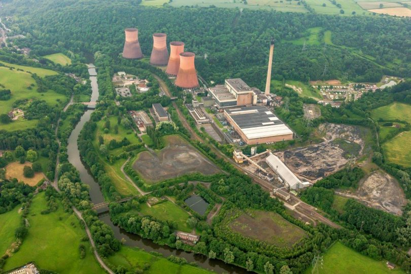 The former Ironbridge Power Station site. Photo: Harworth Group PLC