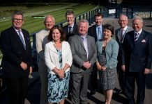 Marches LEP board members will be launching their annual report at the House of Commons. From left, Andrew Manning Cox, Frank Myers, Mandy Thorn, David Llewellyn, Paul Hinkins, James Staniforth, Sonia Roberts, Paul Kalinauckas and chairman Graham Wynn