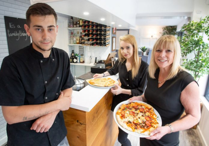 Anthony Begley, Rachael Beith and Holly Turley of La Famiglia