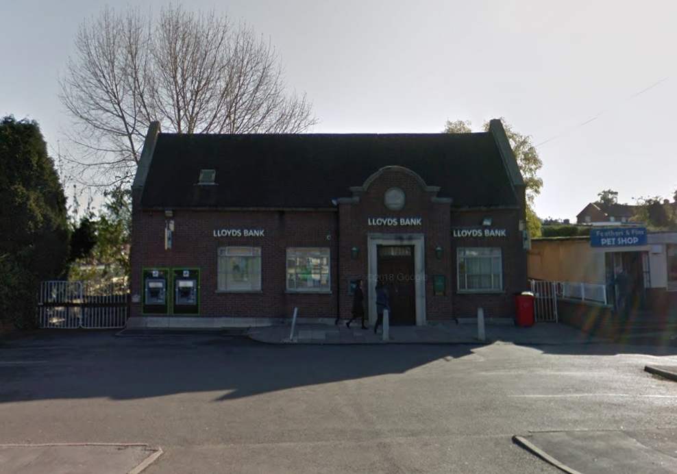 The robbery took place at Lloyds Bank on Wrekin Drive in Donnington. Photo: Google Street View