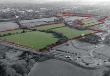 The prime residential development site for sale at Greenfields, Market Drayton extends to approximately 23.91 acres