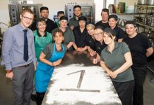 RJAH's kitchen staff celebrating the quality of their food being rated as best in the country