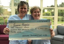 'The two Sarahs' – who are Nursing Assistants at Severn Hospice