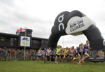 The start of the 208 Shrewsbury Half Marathon