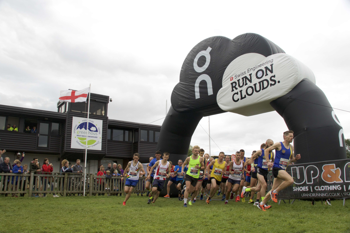 The start of the 208 Shrewsbury Half Marathon