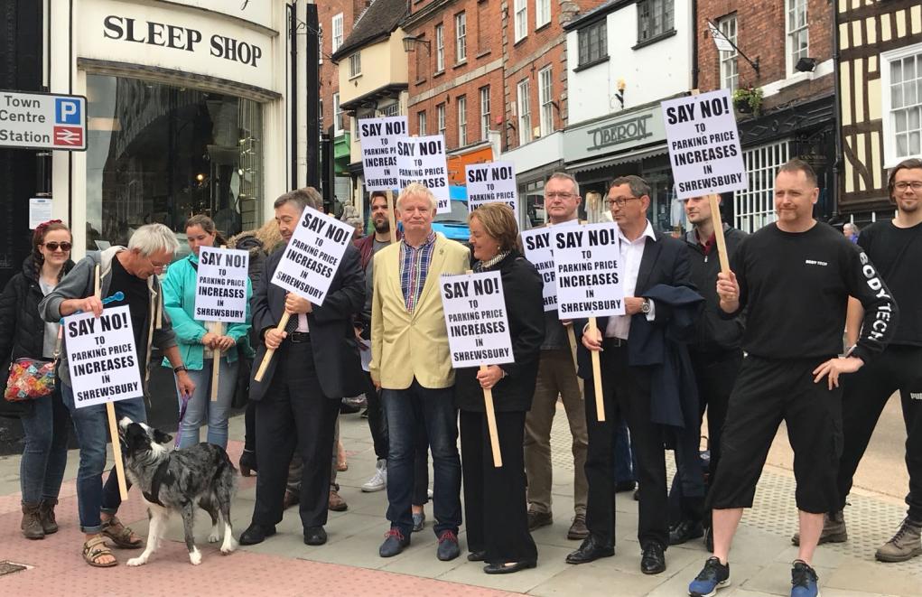 Shrewsbury Parking Protest