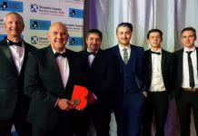 Steve Flavell, Senior Construction Manager of Morris Property, Steve Granda, Joinery Manager, Matthew Tyrrell, Assistant Joinery Manager and Apprentices, Brice Courtney, Joe Hudson and Patrik Cotton