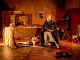 Adrian Monahan as John Aubrey. Photo: Andy Hughes