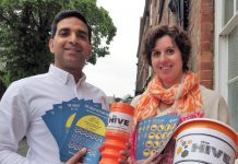 Star PR Director Sundeep Sehijpal with The Hive's programmes and projects manager, Emma Croall