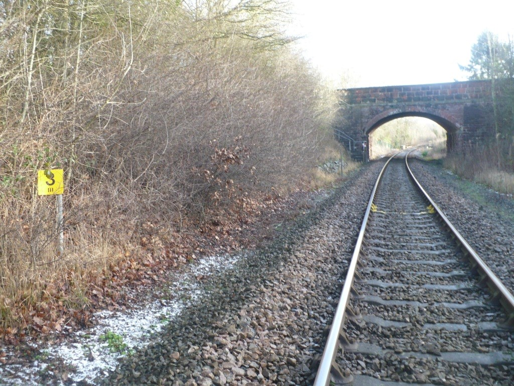 The existing rail through Hanwood is being replaced to ensure the continued safe operation of the railway