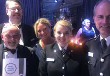 Pictured with Kimberley, her father, the Chief, PolFed Chair DC Sarah Cooper and PCC John Campion