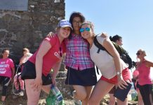 Students from Adcote School enjoy a Race For Life to the summit of Breidden Hill