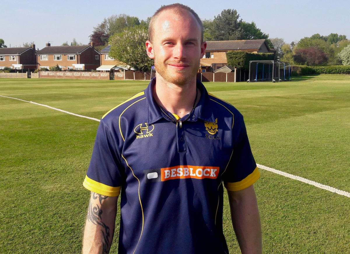 Alexei Kervezee hit 158 in the first innings for Shropshire and followed it up with a half century in the second innings against Herefordshire