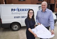 Architect Keeley Fox and Pave Aways Managing Director Steve Owen