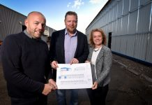 Colin Derbyshire & Kevin Taylor of CV Rollers, with Caroline Cattle, MBIG Programme Manager