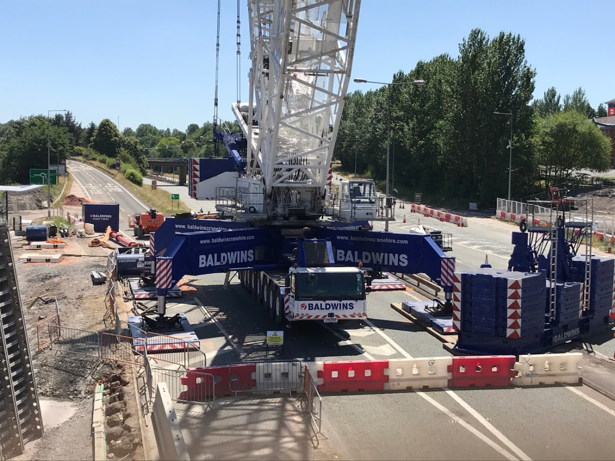 One of Europe's largest cranes will again be assembled on the A442 Eastern Primary