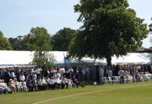 Guests enjoying a previous Shropshire CCC annual hospitality day at Wrekin College