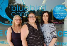 Daryl Ashton, Kirsty Holland and Sarah Ford of Bluebird Care Shropshire