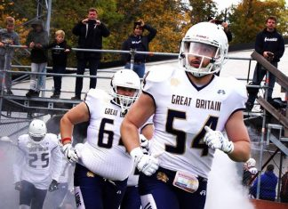 Linebacker Alasdair Jarvis is one of the team representing Great Britain Lions