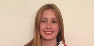 Grace Garbett, 14, assistant captain for Great Britain Junior Women in the Inline Hockey World Championships in Italy