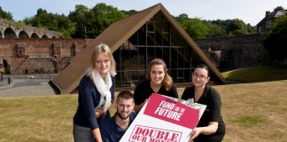 Anna Brennand, Chief Executive Officer, and members of the Ironbridge Gorge Museum's Trust team, officially launch the Fund for the Future at Coalbrookdale
