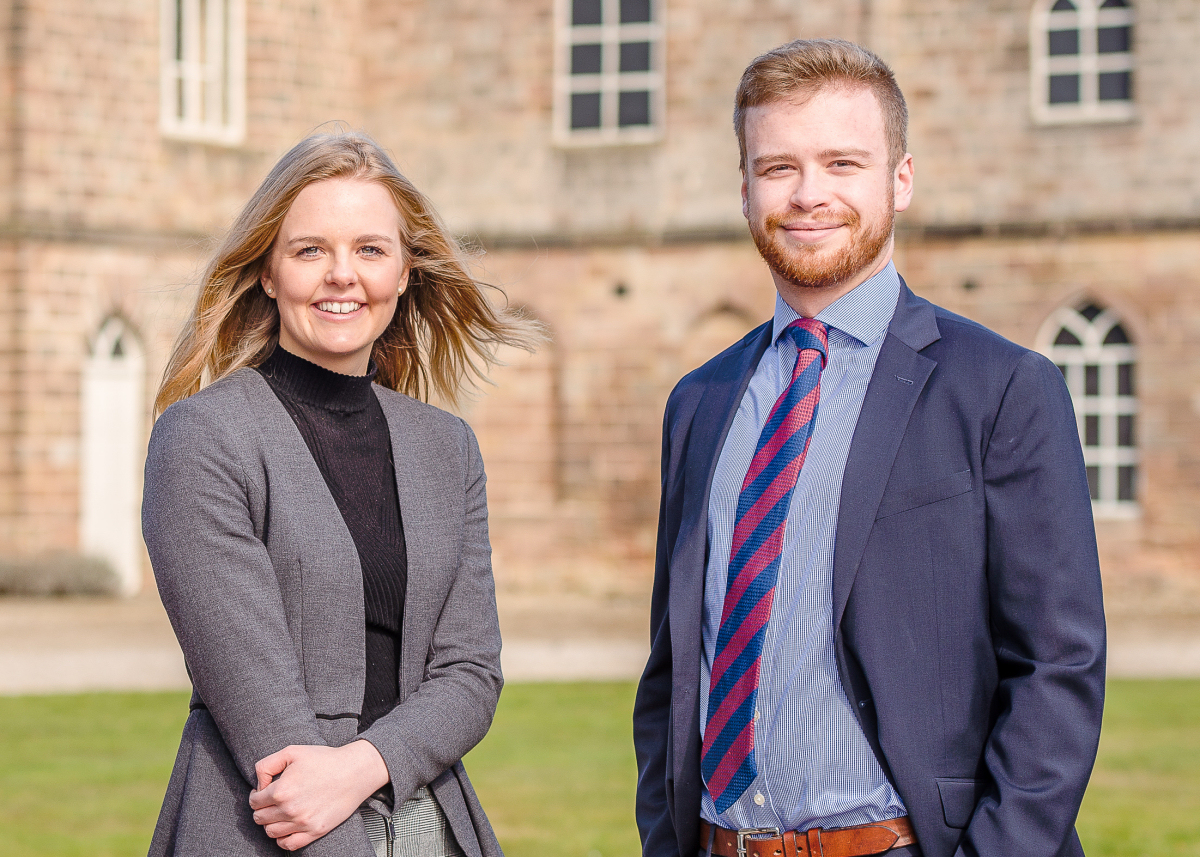 Isabel Speakman and Sam Betteley have joined the Carter Jonas Shropshire team