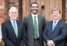 From left, Andrew Mason, Gary Matthews and Robin Melley at Matrix Capital