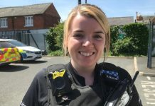 PC Kimberley Morris will attend a reception and an evening awards ceremony in London tonight