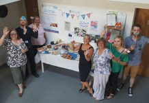 The team celebrate 70 years of the NHS with a '7Tea' party