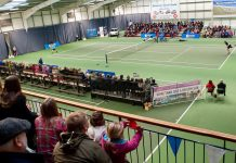 Big crowds enjoy professional tennis tournaments featuring stars of the future at The Shrewsbury Club twice a year